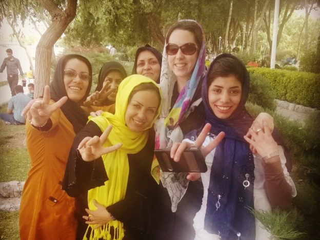 Women in Esfahan, Iran.
