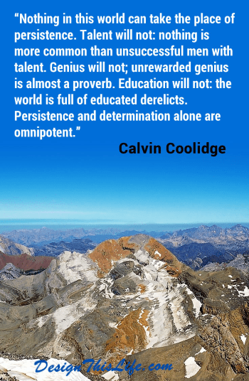 mindset and persistence quote by Calvin Coolidge