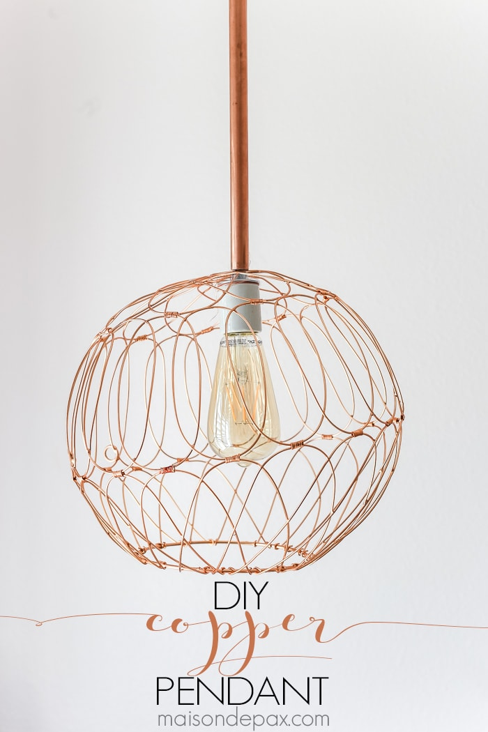 diy copper pendant-sign