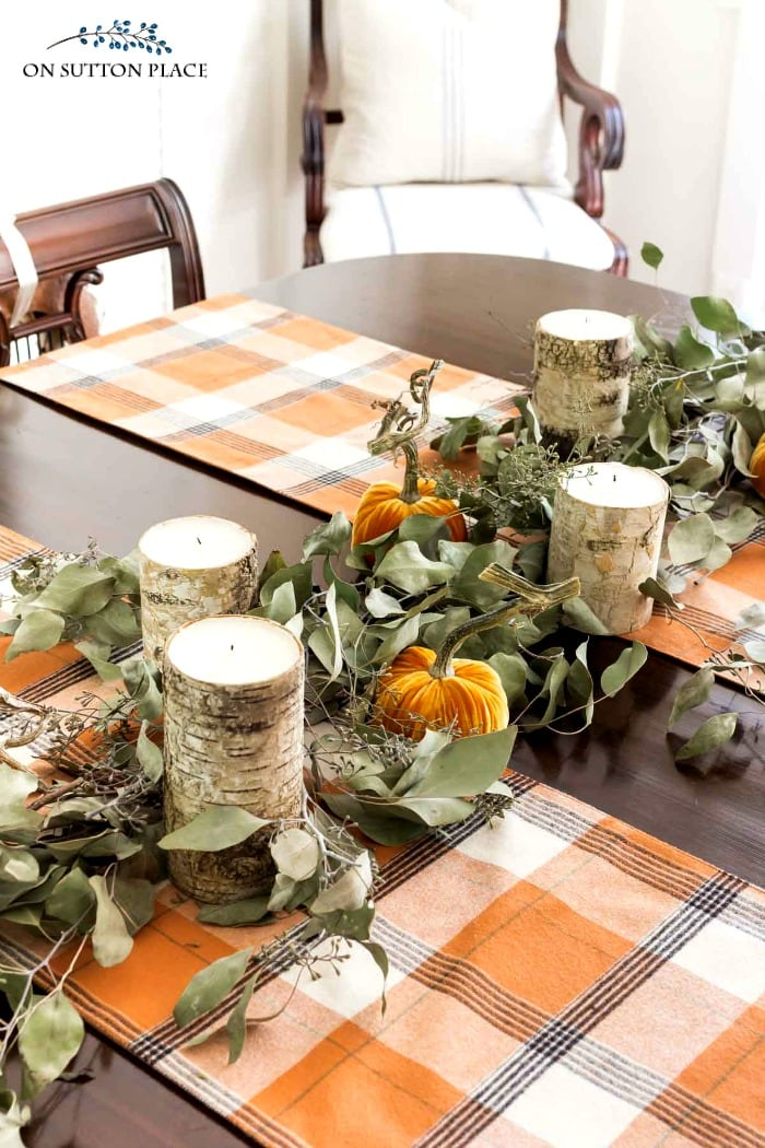 diy eucalyptus garland on sutton place