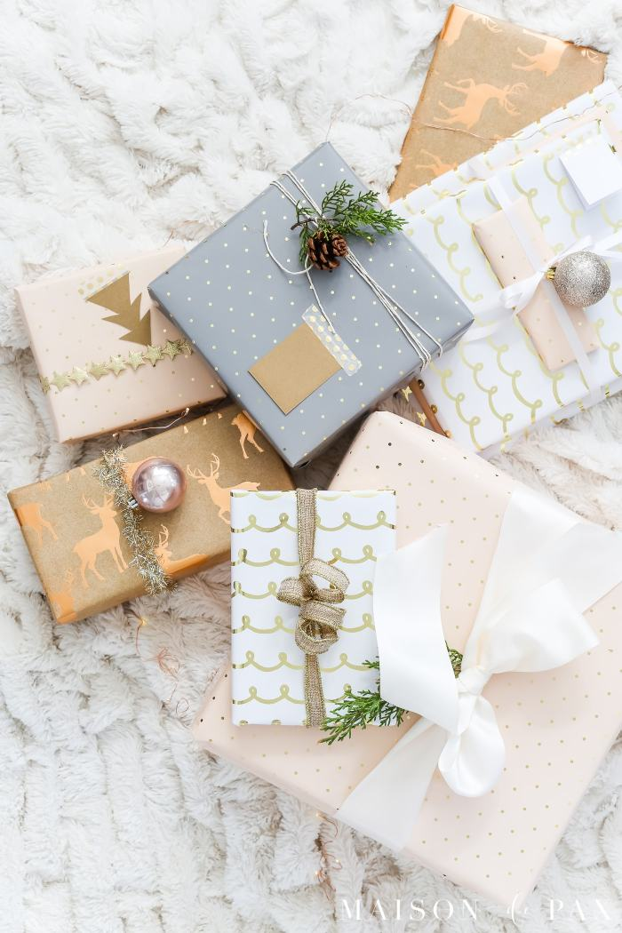 easy gift wrap ideas pretty gift wrapping simple lazy christmas presents