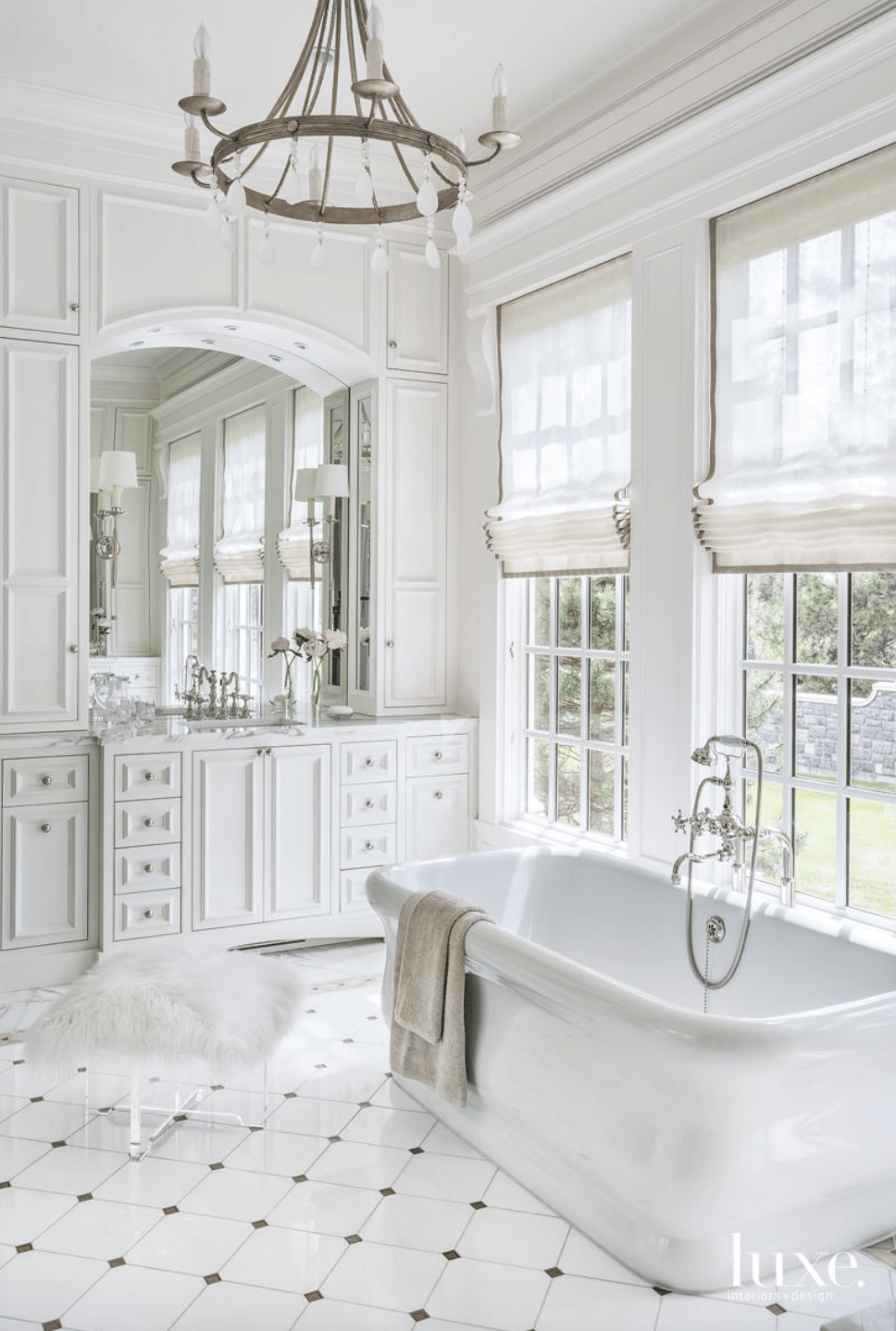 the beauty of white marble tile