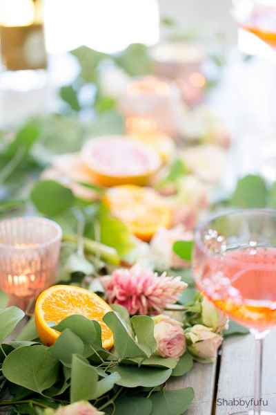 tropical fruit citrus spring party shabbyfufu