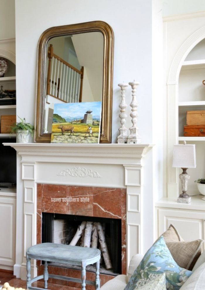 French country spring mantel