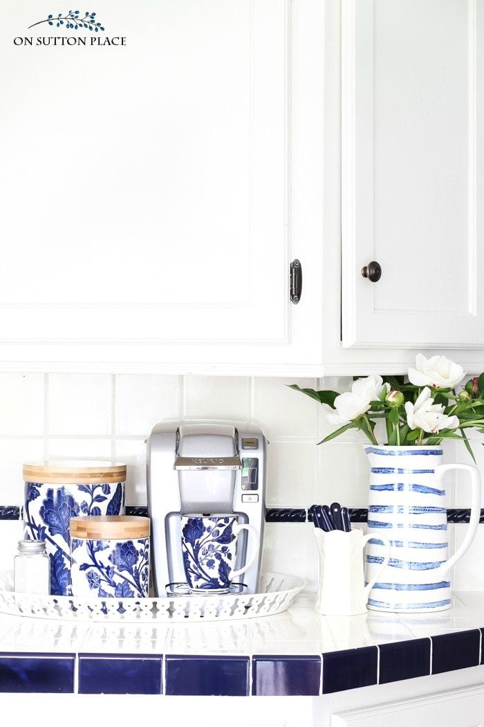 Easy Kitchen Coffee Station from On Sutton Place