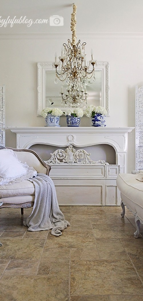 french country living room shabbyfufu