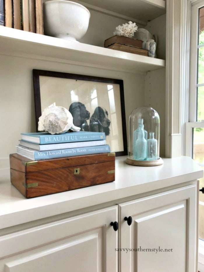 bookcase summer style
