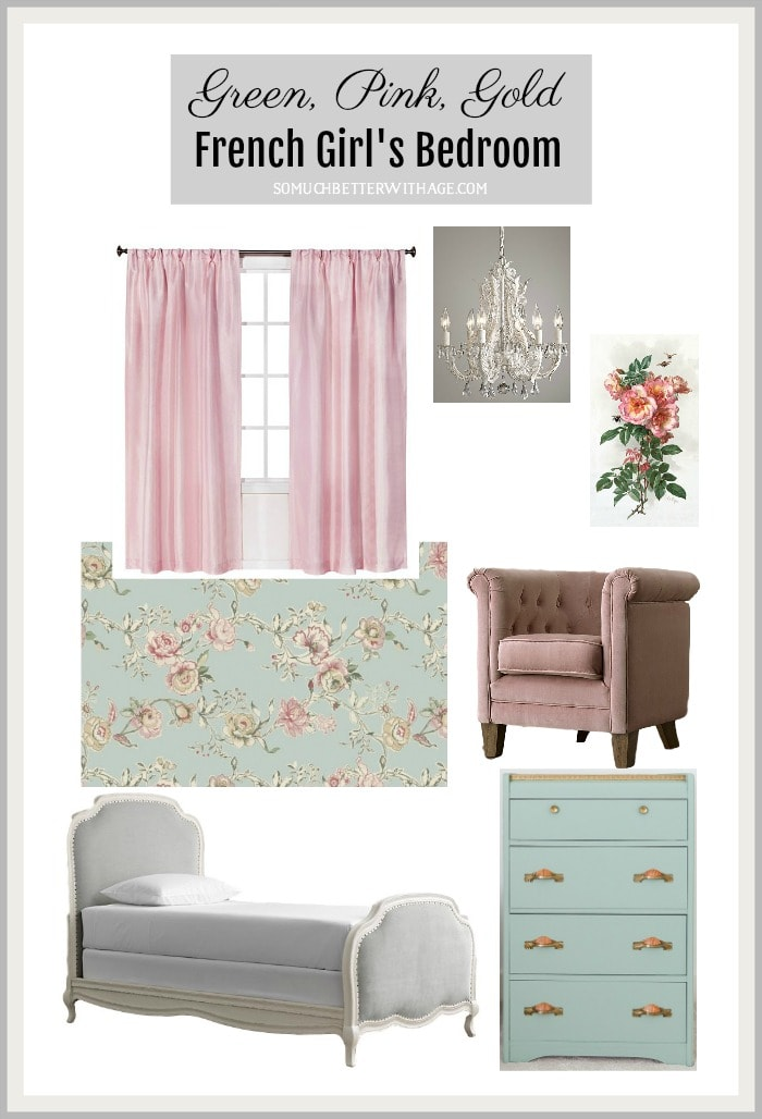 green-pink-gold-french-girls-bedroom-border