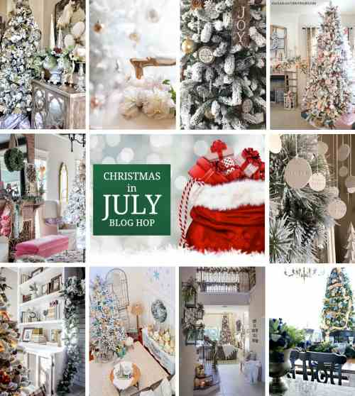 Christmas in July collage