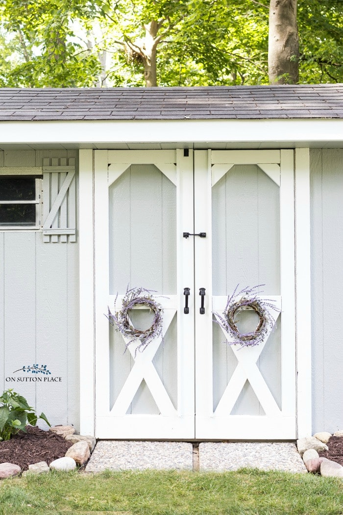 Shed Makeover Ideas from On Sutton Place