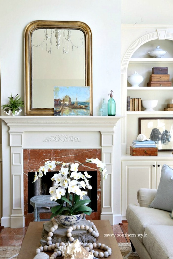 summer mantel in great room