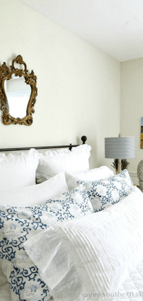 white and bright summer guest bedroom