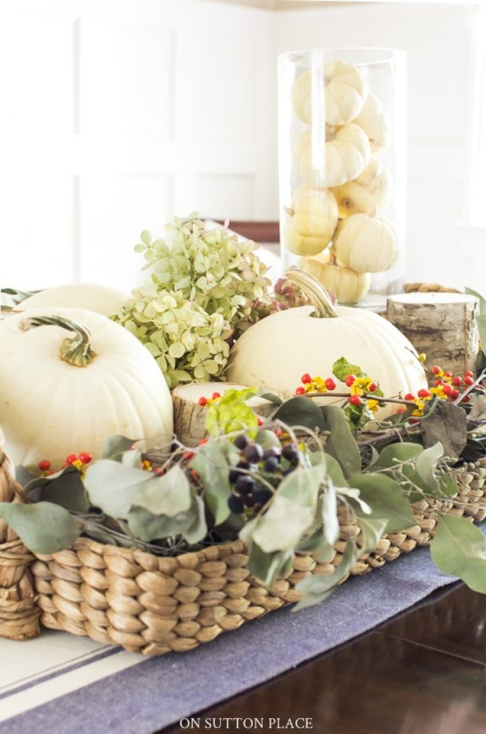 Fall Centerpiece Idea from On Sutton Place