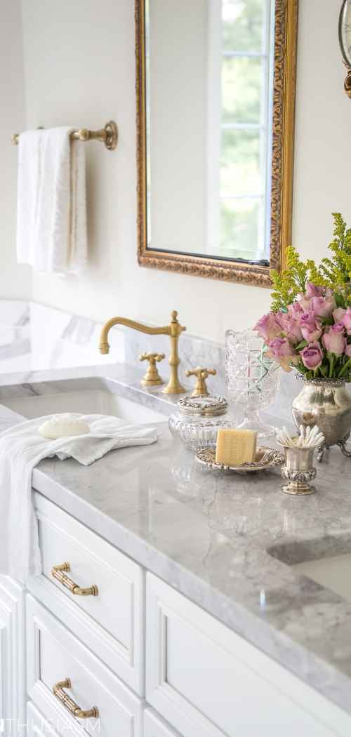 Master Bathroom Reveal: French Style Bathrooms, Kitchens, Furniture, And Much More