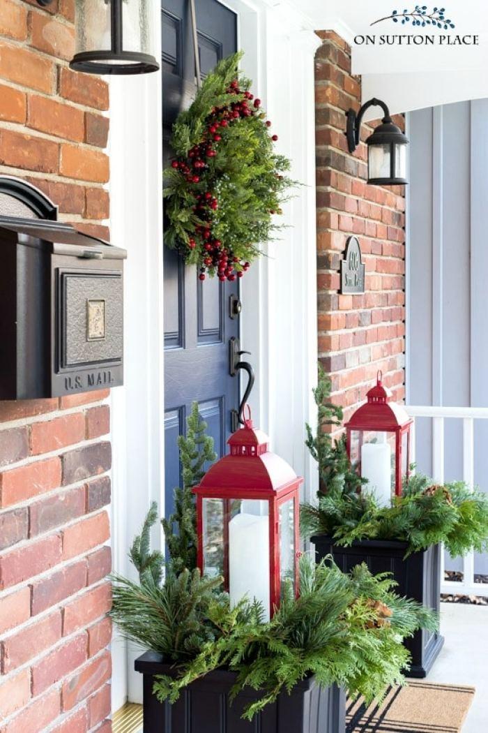 easy christmas porch decor winter planters