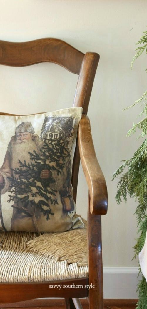 antique-French-chair-Christmas-pillow