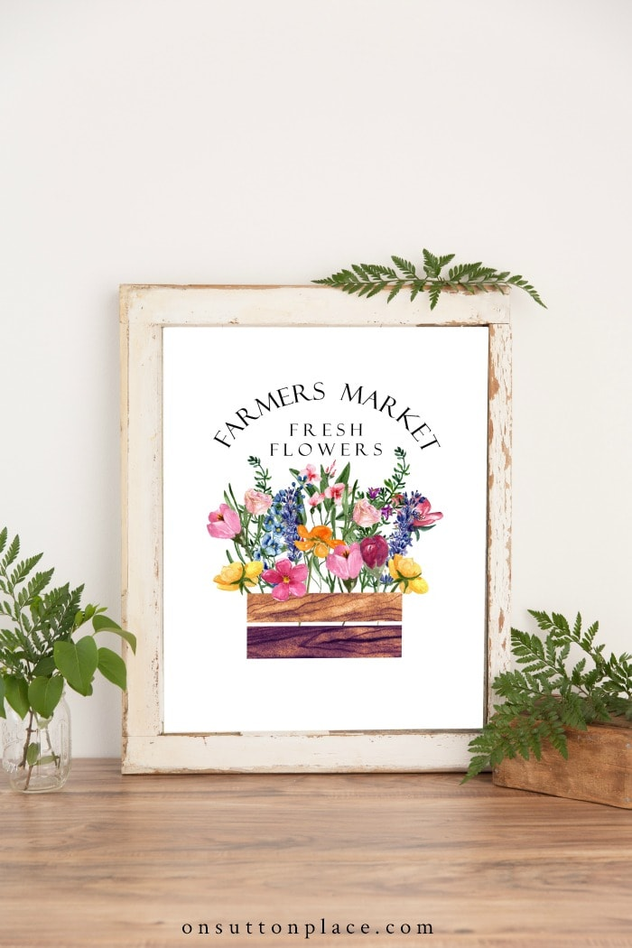 Farmers Market Summer Printable from On Sutton Place
