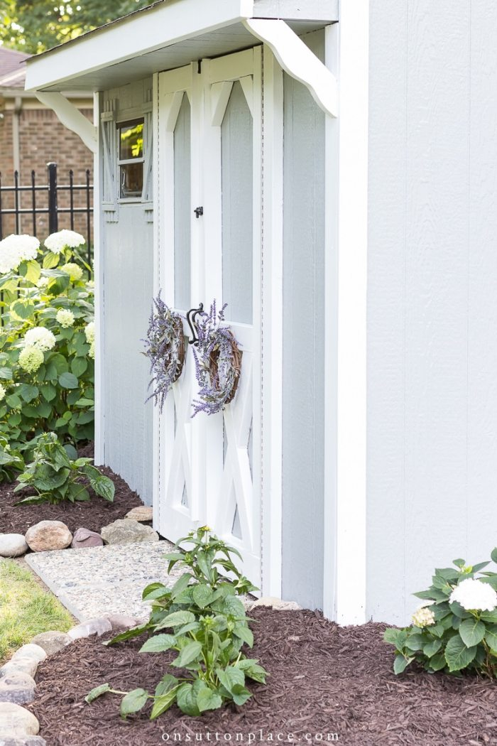 Garden Shed Makeover from On Sutton Place