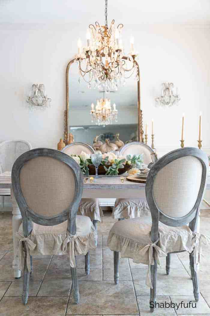 rustic french farmhouse fall table shabbyfufu