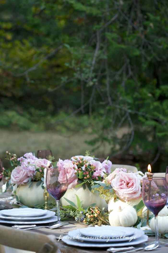 Elegant Thanksgiving table