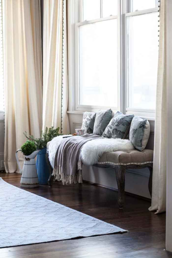 fake window seat cedar hill farmhouse