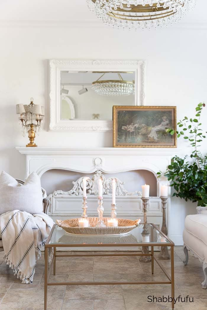 French Style Winter Decorating Ideas - Shabbyfufu