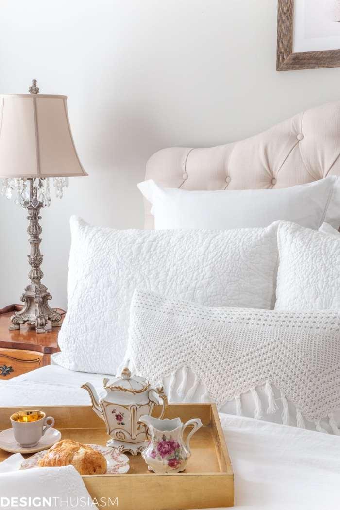 luxury white bedding set