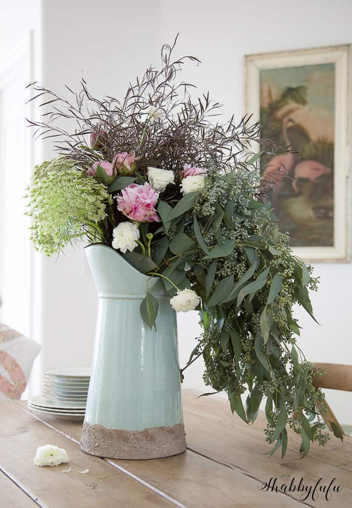 How to create a beautiful wildflower arrangment shabbyfufu
