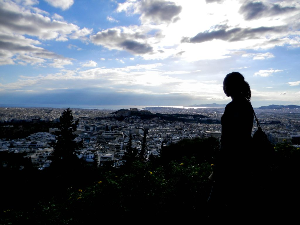 View from Lycabettus Hill in Athens, Greece