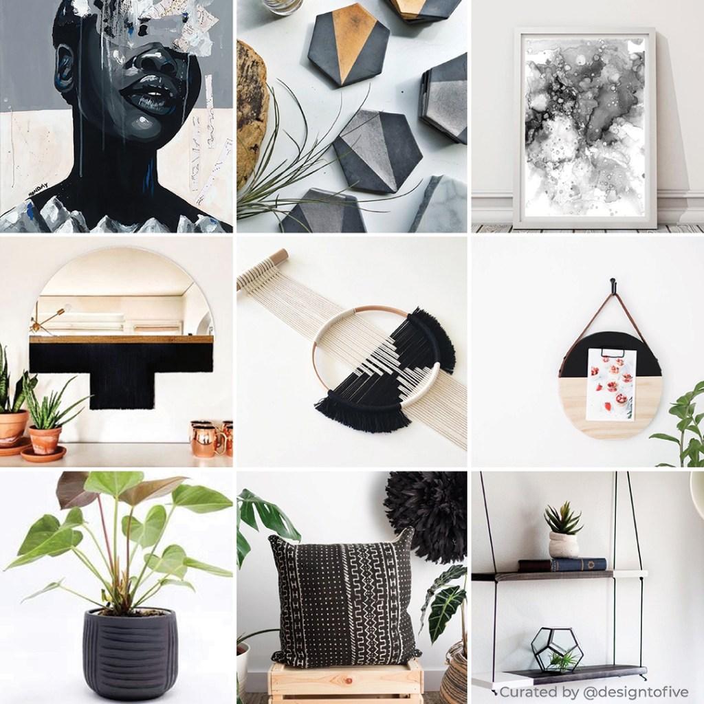 Curated Home Decor - Perle Noir - Charcoal Black Decor