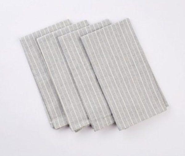 Striped table napkins