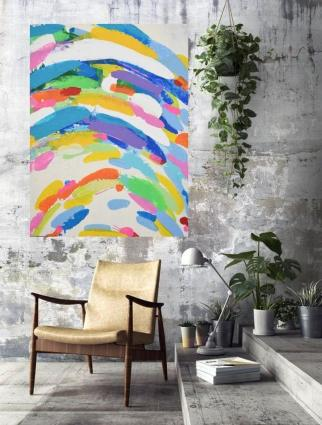 ArtbyDinaD - Abstract - Colorful Multi-colored Acrylic Artwork - Art by Dina D