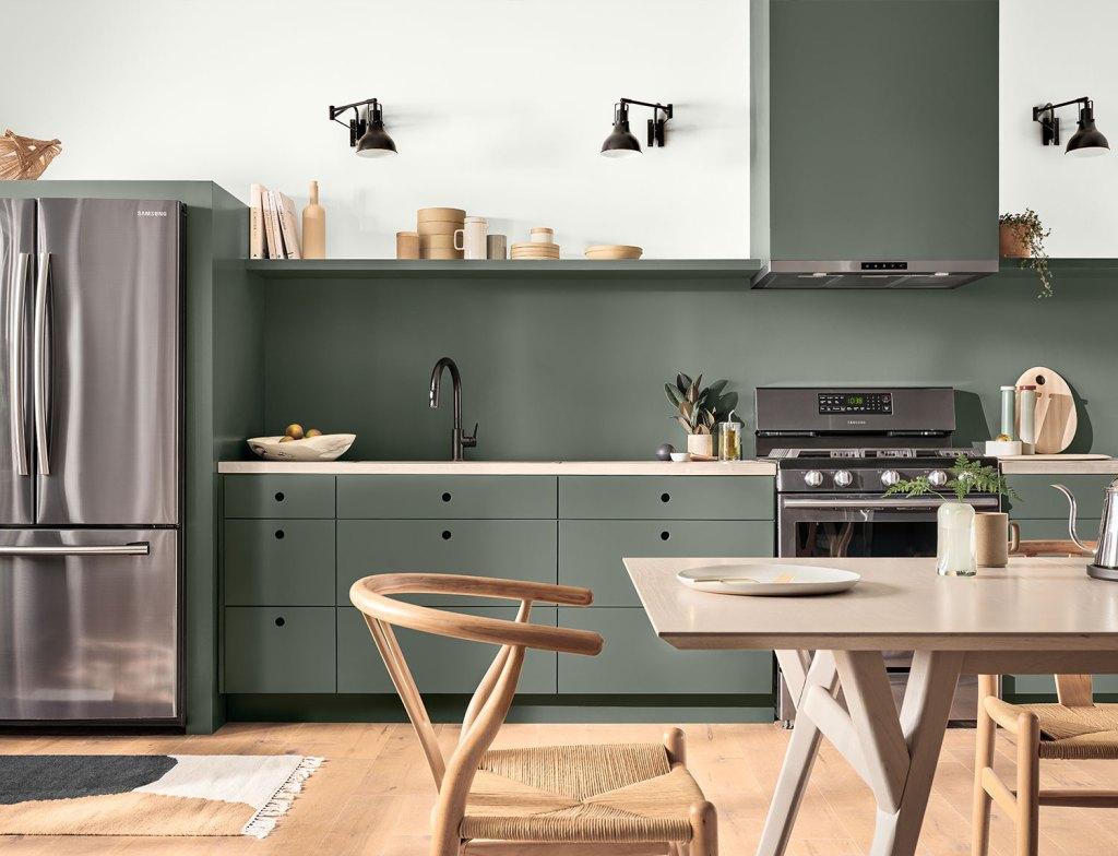 Sherwin Williams - Pewter Green - SW 6208 - Green Kitchen Paint Ideas