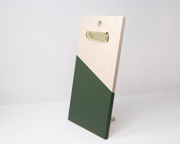 Wood Painted Clipboard - Green - TheHeartDepartmentCo
