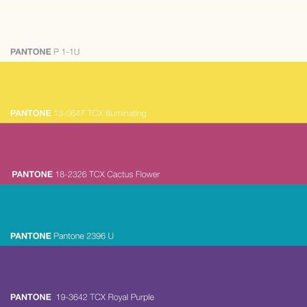 Pantone 13-0647 TCX Illuminating Yellow Color Palette