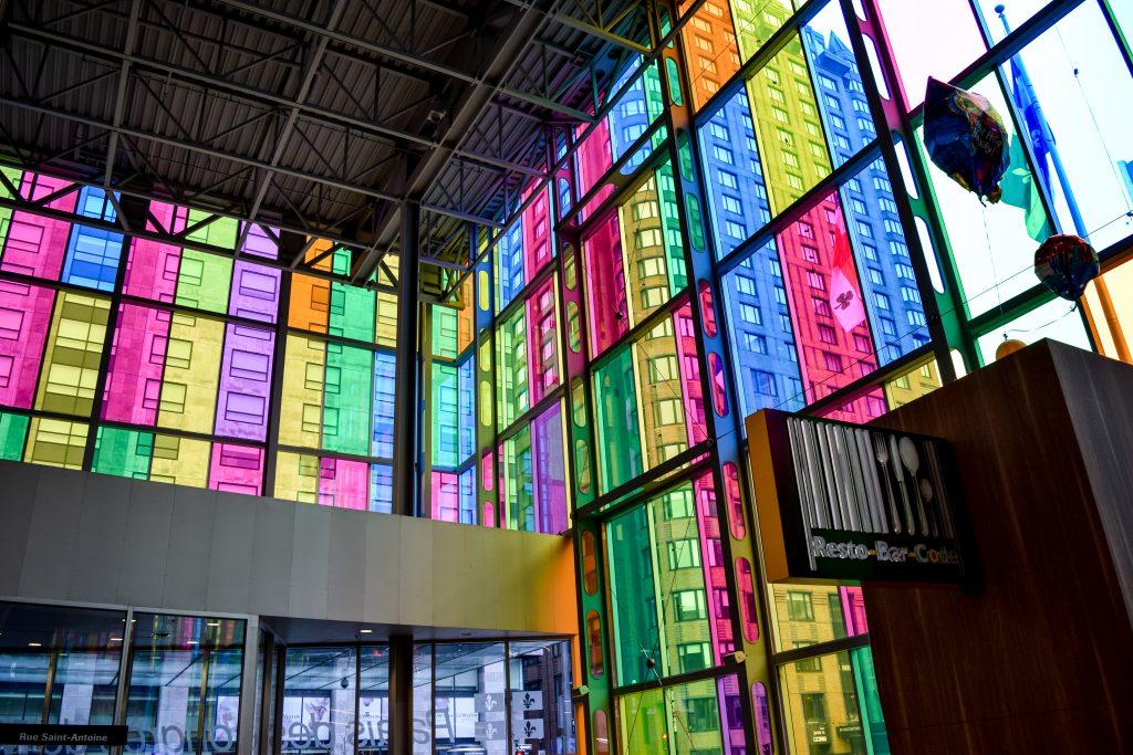 Montreal Convention Center (Palais des congrès de Montréal) Interior Entrance - Rainbow Glass