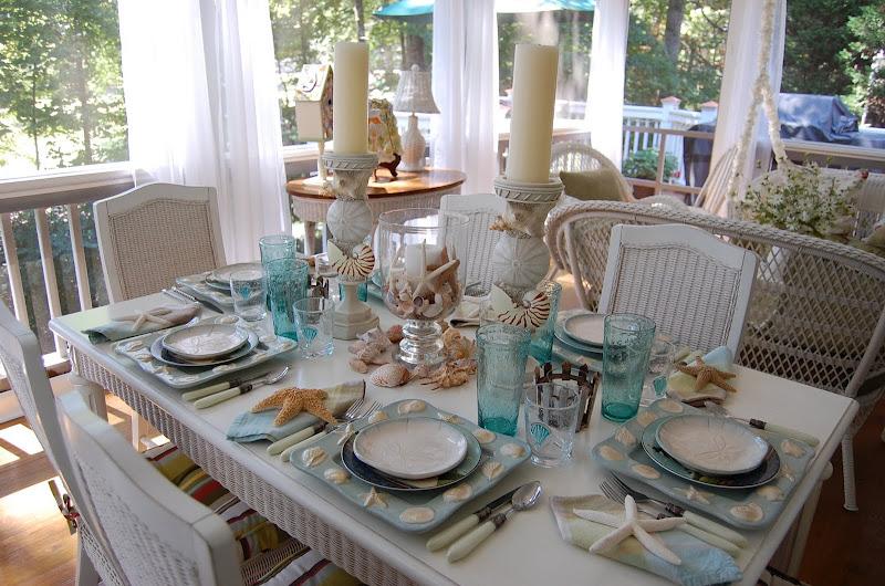apparecchiarela tavola in stile marinaro