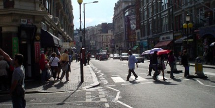 london street. wiggly lines