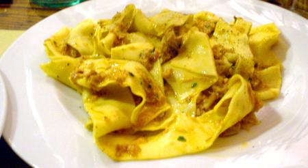Florence Vini E rabbit pasta