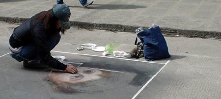 Florence street chalk artist