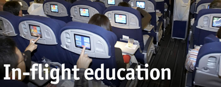 in flight education