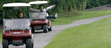 GM test drive detroit golf karts Inn hotel st johns