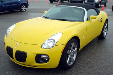 GM Test Drive Detroit Driving Pontiac Soltice