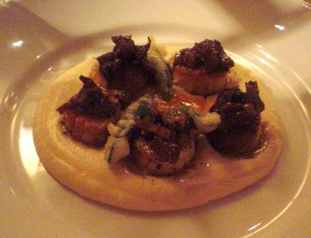 Oleana restaurant scallops