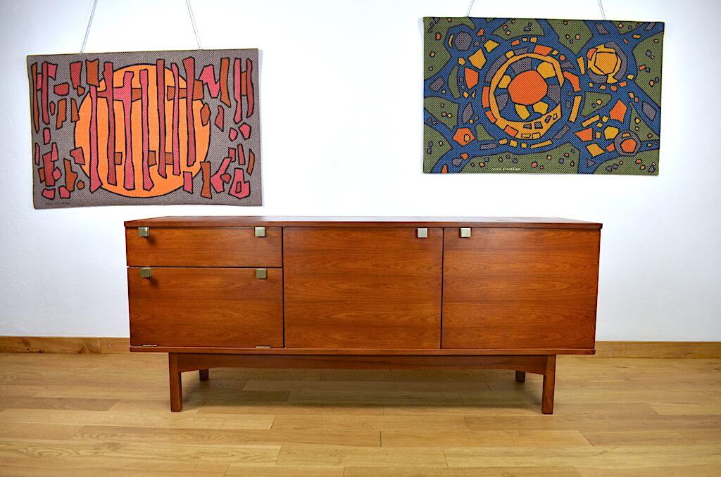 enfilade vintage francais par andre monpoix pour meubles tv 1960