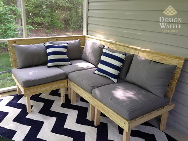 DIY Modular Patio Furniture  because buying furniture would be too     It s been a while since I ve done a project around the house because my  grad classes are keeping me way too busy  I ve been itching to do a new  project so
