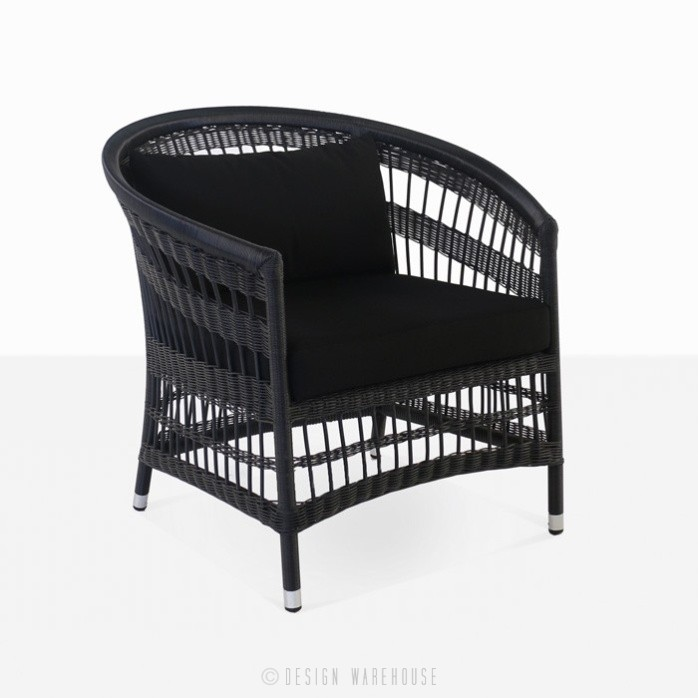 wicker relaxing chair patio furniture
