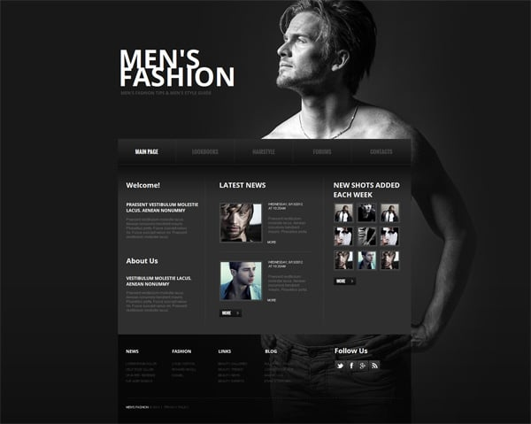 Black And White Website Templates Why Are They So Cool