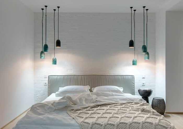Дизайн маленькой спальни в стиле современный лофт
