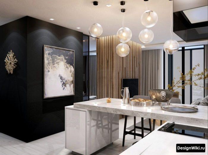Minimalistisk köksdesign i äkta lägenhet